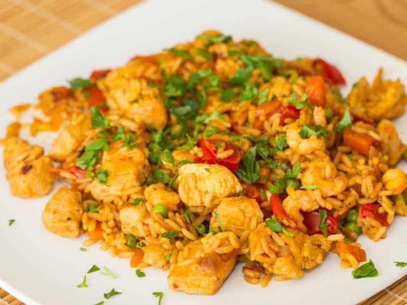 arroz con pollo cubano