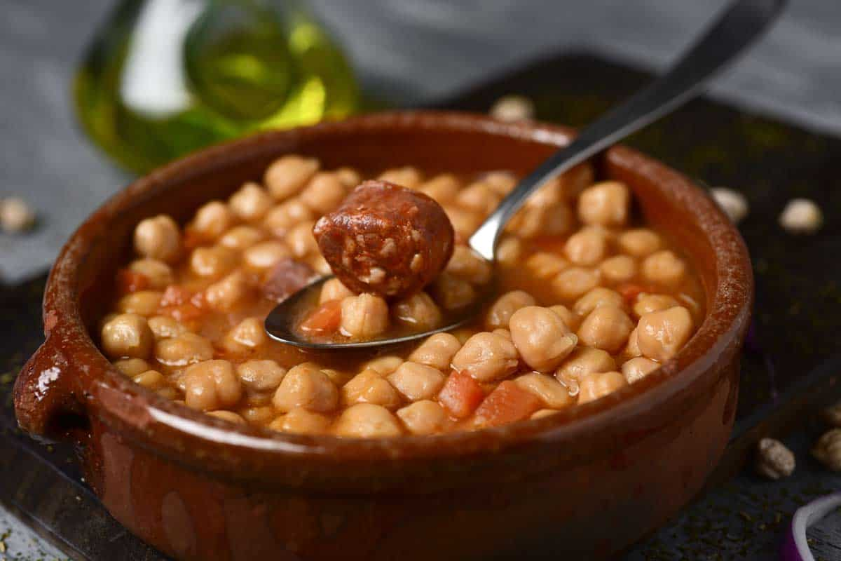 receta potaje de garbanzos