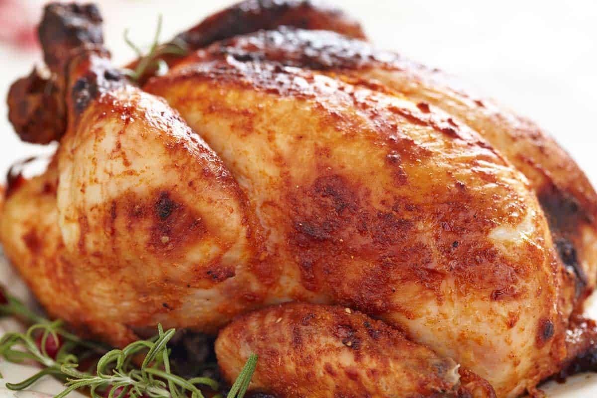receta pollo asado