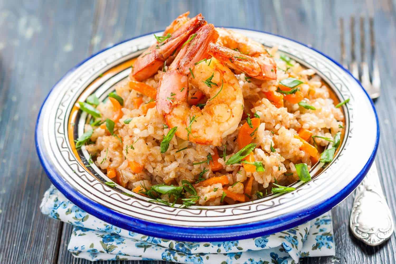 arroz con camarones receta