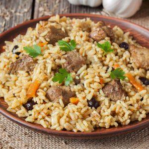 arroz con carne de cerdo
