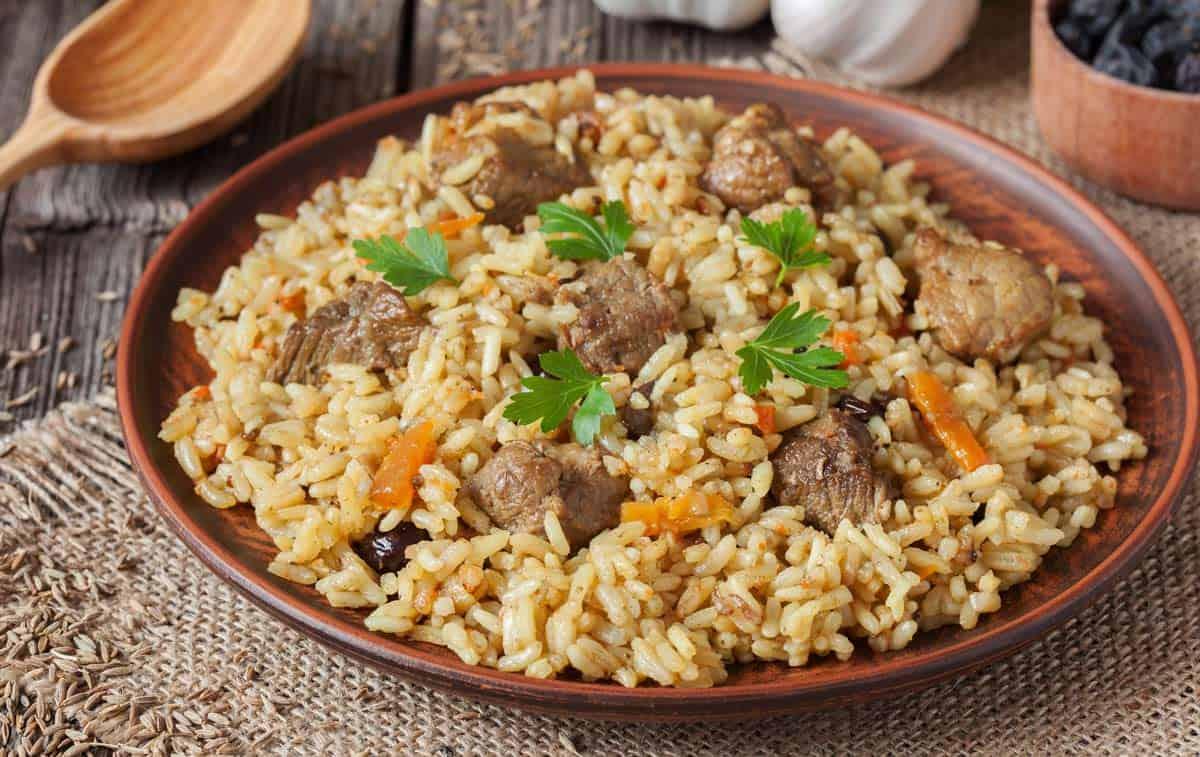 Receta de arroz con carne de cerdo