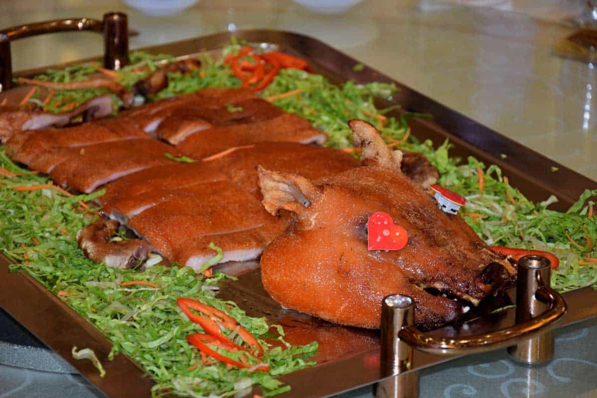 receta Puerco Asado en Caja China